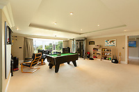 BNPS.co.uk (01202) 558833. <br /> Pic: TailorMade/AshleyFaull/BNPS<br /> <br /> Pictured: The games room of the £6m mansion which has now been demolished. <br /> <br /> A wealthy homeowner has made the 'brave' decision to demolish his £6m seaside mansion that has its own indoor pool, gym and cinema. <br /> <br /> Ashley Faull has flattened the 20-year-old luxury house to build nine new flats to meet the increasing demand for housing that has led to a surge in property prices.<br /> <br /> The apartments will be priced between £1.495m to £2.8m.<br /> <br /> The now ruined four-storey and 19-room home sits on a half-an-acre plot that backs on to Poole Harbour and overlooks exclusive Sandbanks in Dorset.