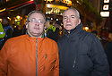Andrew Watt (left) and Paul McGinley who were in the Old Sailor Pub in the red light district of Amsterdam when it was attacked by Ajax fans.