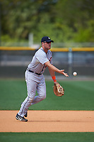 Detroit Tigers Blaise Salter (65) during practice before a minor league Spring Training game against the New York Yankees on March 22, 2017 at the Yankees Complex in Tampa, Florida.  (Mike Janes/Four Seam Images)