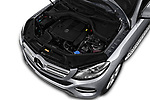 Car stock 2018 Mercedes Benz GLE Base 5 Door SUV engine high angle detail view