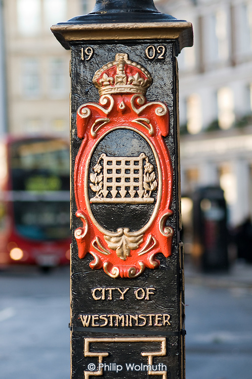 City of Westminster crest on a lamp post