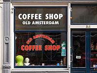 Coffee Shop bei der Amstelstraat, Amsterdam, Provinz Nordholland, Niederlande<br /> Coffee Shop at Amstelstraat, Amsterdam, Province North Holland, Netherlands