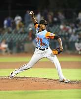 Camilto Doval participates in the 2019 California League All-Star Game at San Manuel Stadium on June 18, 2019 in San Bernardino, California (Bill Mitchell)