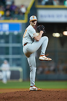 Texas Longhorns relief pitcher Sam Walbridge (47) in action against the LSU Tigers in game three of the 2020 Shriners Hospitals for Children College Classic at Minute Maid Park on February 28, 2020 in Houston, Texas. The Tigers defeated the Longhorns 4-3. (Brian Westerholt/Four Seam Images)