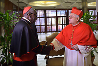 Cardinal Aquilino Bocos Merino,Cardinal Robert Sarah,  Pope Francis leads a consistory for the creation of five new cardinals  at St Peter's basilica in Vatican on  June 28, 2018