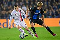 Charles De Ketelaere midfielder of Club Brugge battles for the ball with Marco Verratti midfielder of PSG  <br /> Bruges 22-10-2019 <br /> Club Brugge - Paris Saint Germain PSG <br /> Champions League 2019/2020<br /> Foto Panoramic / Insidefoto <br /> Italy Only