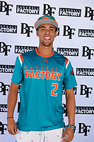 Alexander Aguila (2) of Mater Academy in Hialeah, Florida during the Baseball Factory All-America Pre-Season Tournament, powered by Under Armour, on January 12, 2018 at Sloan Park Complex in Mesa, Arizona.  (Mike Janes/Four Seam Images)