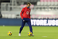FORT LAUDERDALE, FL - DECEMBER 09: Jason Kreis U-23 Head Coach passes the ball during a game between El Salvador and USMNT at Inter Miami CF Stadium on December 09, 2020 in Fort Lauderdale, Florida.