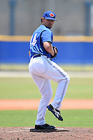 GCL Blue Jays pitcher Turner Lee (44) delivers a pitch during a game against the GCL Yankees 2 on July 2, 2014 at the Bobby Mattick Complex in Dunedin, Florida.  GCL Yankees 2 defeated GCL Blue Jays 9-6.  (Mike Janes/Four Seam Images)