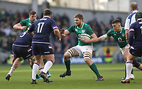 Saturday 10th March 2018 |  Ireland vs Scotland<br /> <br /> Iain Henderson on the attack during the NatWest 6 Nations clash between Ireland and Scotland at the Aviva Stadium, Lansdowne Road, Dublin, Ireland. Photo by John Dickson / DICKSONDIGITAL
