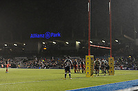 General view of an extremely wet Allianz Park during the Premiership Rugby match between Saracens and Leicester Tigers - 02/01/2016 - Allianz Park, London<br /> Mandatory Credit: Rob Munro/Stewart Communications