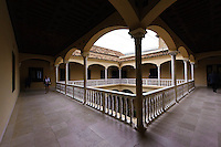Innenhof im Museo Picasso in Malaga, Andalusien, Spanien