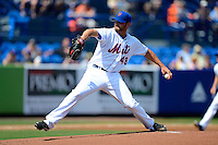 New York Mets starting pitcher Jon Niese #49 delivers a pitch during an exhibition game against the Michigan Wolverines at Tradition Field on February 24, 2013 in Port St Lucie, Florida.  New York defeated Michigan 5-2.  (Mike Janes/Four Seam Images)