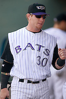 Louisville center fielder Josh Hamilton (30) in the dugout prior to taking on Indianapolis at Louisville Bats Field in Louisville, KY, Wednesday, August 8, 2007.