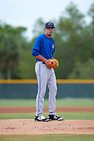 Toronto Blue Jays Tayler Saucedo (34) during a minor league Spring Training game against the Pittsburgh Pirates on March 24, 2016 at Pirate City in Bradenton, Florida.  (Mike Janes/Four Seam Images)