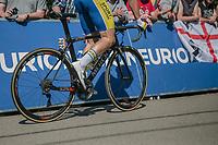 Kevin Deltombe (BEL/Sport Vlaanderen Baloise), 2nd run up on the infamous Mur de Huy<br /> <br /> <br /> <br /> 82nd La Flèche Wallonne 2018<br /> 1 Day Race: Seraing - Huy (198,5km)