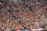 NASHVILLE, TN - SEPTEMBER 5: USA Fans clap their hands during a cheer during a game between Canada and USMNT at Nissan Stadium on September 5, 2021 in Nashville, Tennessee.