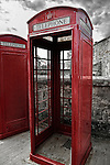 Red telephone booth in St. George, Bermuda