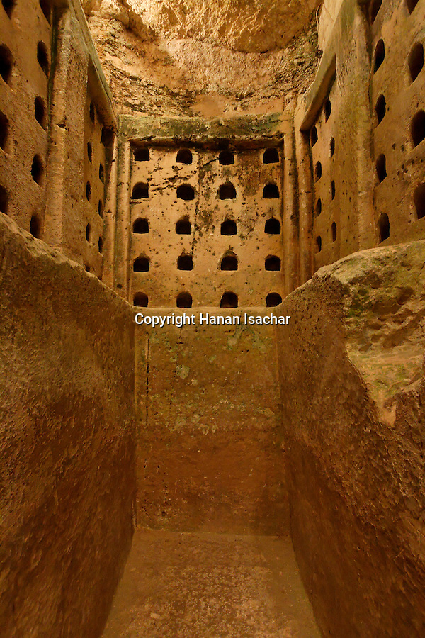 Israel, Shephelah region. The columbarium in Tel Maresha