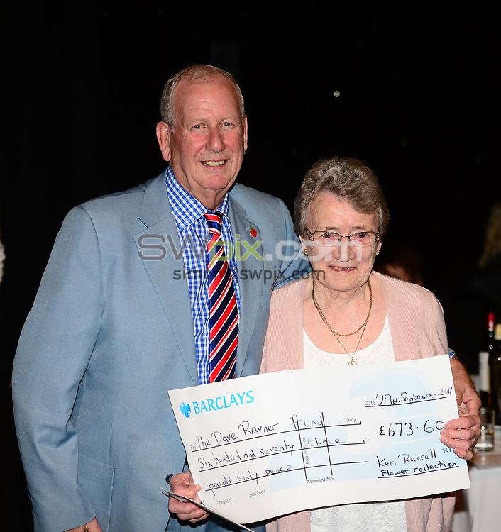 Picture by Simon Wilkinson/SWpix.com - 04/11/2017 Cycling Dave Rayner Fund Dinner 2017 New Dock Yard Royal Armouries, Leeds - John Rayner and Renee Russell