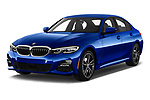 2019 BMW 3-Series M-Sport 4 Door Sedan Angular Front automotive stock photos of front three quarter view