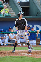 Christian Koss (36) of the Grand Junction Rockies at bat against the Ogden Raptors at Lindquist Field on July 23, 2019 in Ogden, Utah. The Raptors defeated the Rockies 11-4. (Stephen Smith/Four Seam Images)