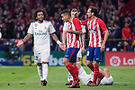 Atletico de Madrid Juanfran Torres and Real Madrid Marcelo during La Liga match between Atletico de Madrid and Real Madrid at Wanda Metropolitano in Madrid, Spain. November 18, 2017. (ALTERPHOTOS/Borja B.Hojas)