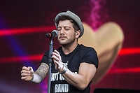 Matt Cardle performing during Rewind South, The 80s Festival, at Temple Island Meadows, Henley-on-Thames, England on 20 August 2016. Photo by David Horn.