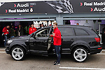 Real Madrid player Sergio Ramos participates and receives new Audi during the presentation of Real Madrid's new cars made by Audi at the Jarama racetrack on November 8, 2012 in Madrid, Spain.(ALTERPHOTOS/Harry S. Stamper)