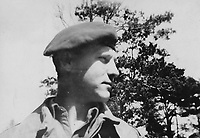 """BNPS.co.uk (01202) 558833. <br /> Pic: Bosleys/BNPS<br /> <br /> Pictured: A picture captioned """"Brummy Moore"""". <br /> <br /> Never before seen photos taken by a fishmonger turned SAS hero behind enemy lines in World War Two have come to light 76 years on.<br /> <br /> Sergeant Samuel Rushworth, of the 2nd Special Air Service, was dropped into occupied France two days before D-Day in June 1944.<br /> <br /> They were tasked with disrupting German reinforcements dispatched to Normandy following the Allied landings."""