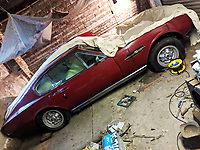 BNPS.co.uk (01202) 558833. <br /> Pic: ClassicMotorCars/BNPS<br /> <br /> Pictured: The classic Aston Martin DBS when it was discovered in a garage. <br /> <br /> A classic Aston Martin is to be restored after spending over 40 years languishing in a garage.<br /> <br /> The classic DBS sports car dates back to 1971 and spent over four decades with its last family.<br /> <br /> It covered just 62,000 before being placed into dry storage in Bridgnorth, Shropshire in 1979 and it has remained there ever since.