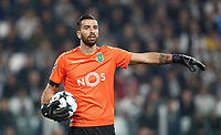 Football Soccer: UEFA Champions League Juventus vs Sporting Clube de Portugal, Allianz Stadium. Turin, Italy, October 18, 2017. <br /> Sporting CP goalkeeper Rui Patricio in action during the Uefa Champions League football soccer match between Juventus and Sporting Clube de Portugal at Allianz Stadium in Turin, October 18, 2017.<br /> UPDATE IMAGES PRESS/Isabella Bonotto