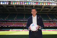 Lord Sebastian Coe poses with the match ball ahead of Great Britain Women vs New Zealand Women - Womens Olympic Football Tournament London 2012 Group E at the Millenium Stadium, Cardiff, Wales - 25/07/12 - MANDATORY CREDIT: Gavin Ellis/SHEKICKS/TGSPHOTO - Self billing applies where appropriate - 0845 094 6026 - contact@tgsphoto.co.uk - NO UNPAID USE.