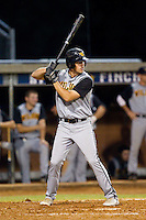 Bradley Morton #15 (Appalachian State) of the Wilson Tobs at bat against the High Point-Thomasville HiToms at Finch Field on June 17, 2013 in Thomasville, North Carolina.  The Tobs defeated the HiToms 3-2 in 11 innings.  Brian Westerholt/Four Seam Images