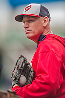 5 April 2014: Washington Nationals Manager Matt Williams prepares for batting practice prior to facing the Atlanta Braves at Nationals Park in Washington, DC. The Braves defeated the Nationals 6-2 to take the second game of their 3-game series. Mandatory Credit: Ed Wolfstein Photo *** RAW (NEF) Image File Available ***