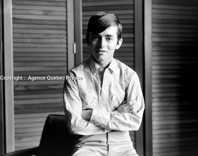 ARCHIVE -<br /> <br />  Le chanteur et acteur Joselito<br /> en mai 1966<br /> <br /> PHOTO :  Agence Quebec Presse - Photo Moderne