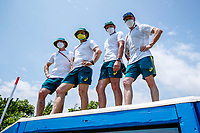The Australian Equestrian Team walk the course. Eventing Cross Country Walk at the Sea Forest Cross Country Venue. Tokyo 2020 Olympic Games. Wednesday 28 July 2021. Copyright Photo: Libby Law Photography