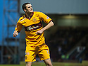 Motherwell's Jamie Murphy celebrates after he scores Motherwell's third goal.