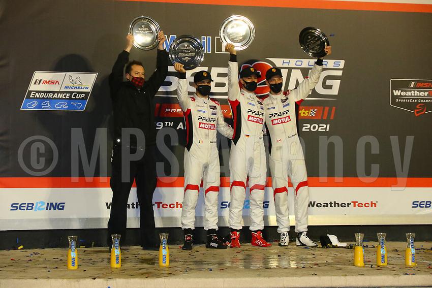 WINNER 12H OF SEBRING CATEGORY GTD #9 PFAFF MOTORSPORTS (USA) PORSCHE 911 GT3R GTD ZACHARIE ROBICHON (CAN) LAURENS VANTHOOR (BEL) LARS KERN (DEU)
