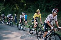 Geraint Thomas (GBR/SKY) rolling by in yellow (all the way to Paris?)<br /> <br /> Stage 18: Trie-sur-Baïse > Pau (172km)<br /> <br /> 105th Tour de France 2018<br /> ©kramon