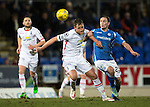 St Johnstone v Inverness Caley Thistle…09.03.16  SPFL McDiarmid Park, Perth<br />Gary Warren fends off Chris Kane<br />Picture by Graeme Hart.<br />Copyright Perthshire Picture Agency<br />Tel: 01738 623350  Mobile: 07990 594431