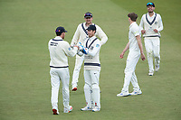 Middlesex celebrate the dismissal of Bracey early after tea during Middlesex CCC vs Gloucestershire CCC, LV Insurance County Championship Group 2 Cricket at Lord's Cricket Ground on 7th May 2021