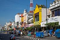Yogyakarta, Java, Indonesia.  Malioboro Street, early Morning.