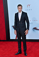 """LOS ANGELES, USA. August 27, 2019: Bill Skarsgard at the premiere of """"IT Chapter Two"""" at the Regency Village Theatre.<br /> Picture: Paul Smith/Featureflash"""