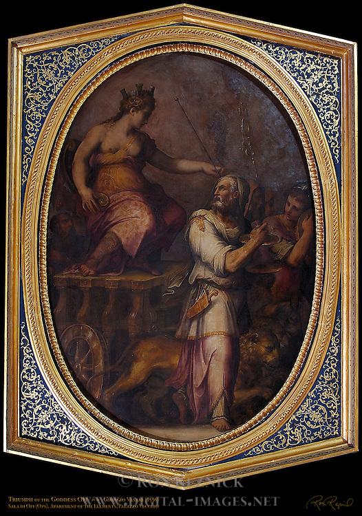 Triumph of Opi Vasari Sala di Opi Apartment of the Elements Palazzo Vecchio Florence