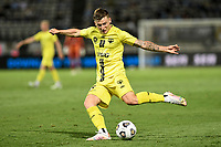 8th February 2021; Jubilee Stadium, Sydney, New South Wales, Australia; A League Football, Sydney Football Club versus Wellington Phoenix; Mirza Muratovic of Wellington Phoenix crosses into the Sydney box
