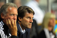 Pictured: Manager Michael Laudrup of Swansea. Tuesday 28 August 2012<br /> Re: Capital One Cup game, Swansea City FC v Barnsley at the Liberty Stadium, south Wales.