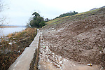 Riverbank Landslide blocking the walk along the river<br /> Picture www.newsfile.ie