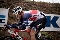 Edward Theuns (BEL/Trek-Segafredo) up the infamous Koppenberg<br /> <br /> 105th Ronde van Vlaanderen 2021 (MEN1.UWT)<br /> <br /> 1 day race from Antwerp to Oudenaarde (BEL/264km) <br /> <br /> ©kramon