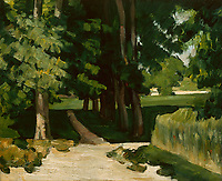 Full title: The Avenue at the Jas de Bouffan<br /> Artist: Paul Cezanne<br /> Date made: 1868-70, possibly later<br /> The National Gallery, London